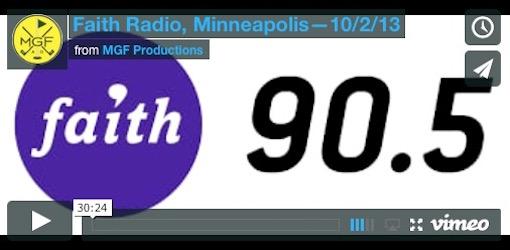 Faith Radio 10/2/13 Video